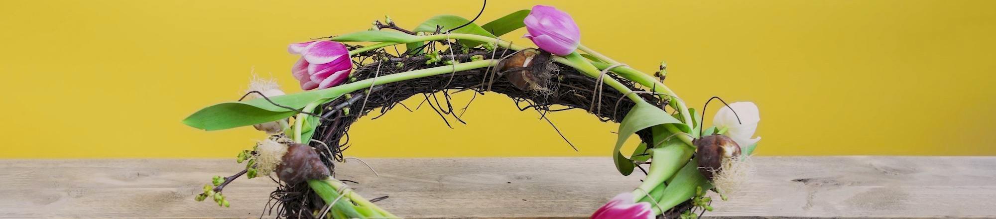 DIY: Tulpenkrans. Bloemenkrans met tulpen
