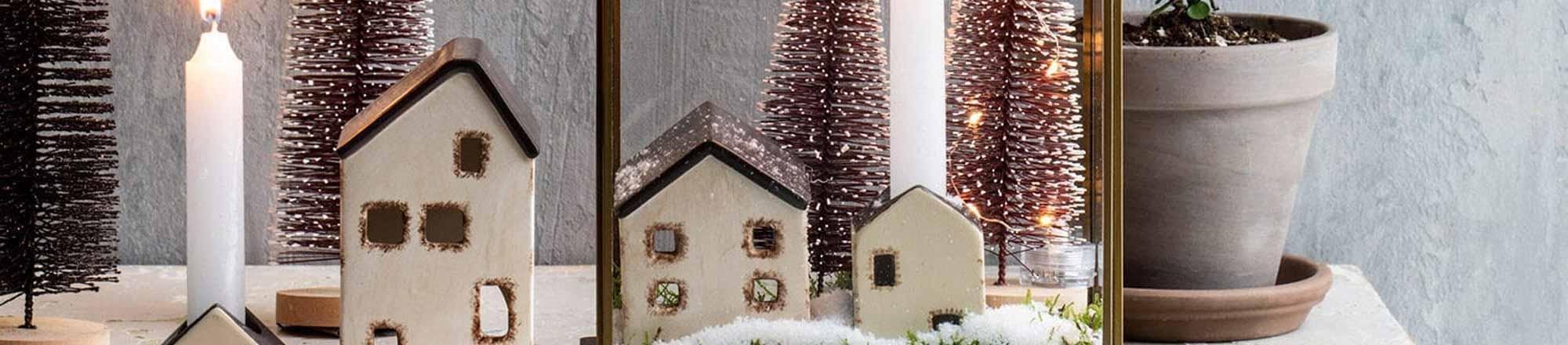 DIY: Maak eenvoudig je eigen mini kerstdorp