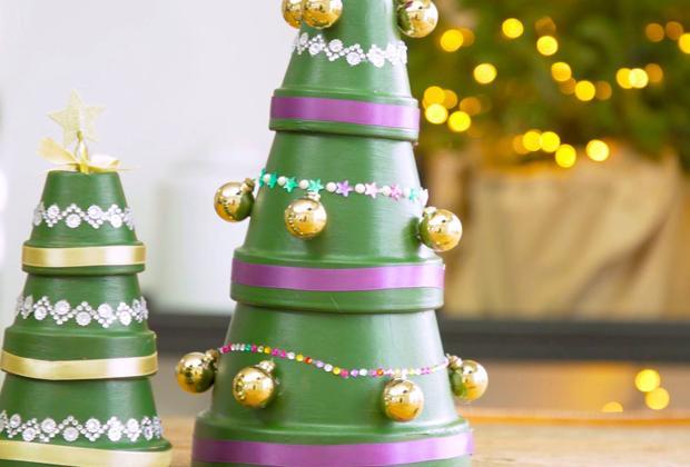 DIY: Kerstboom van bloempotten