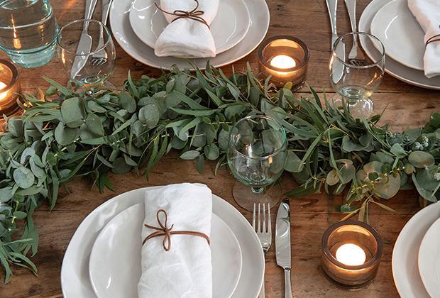 DIY: Groene tafelloper van eucalyptus