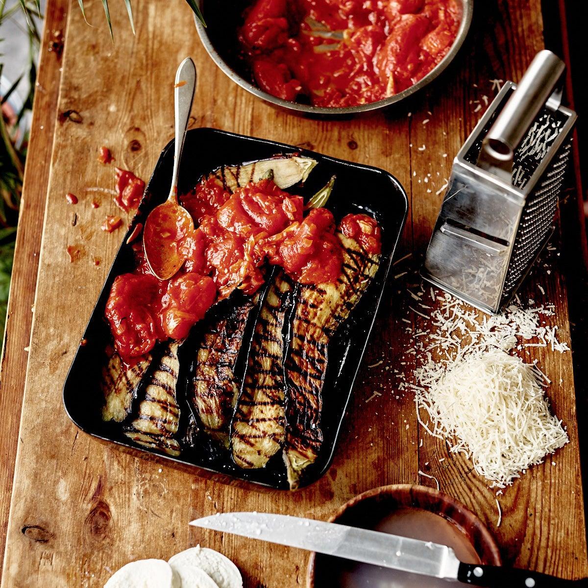BBQ recept: mrs melanzane en mr mozzarella
