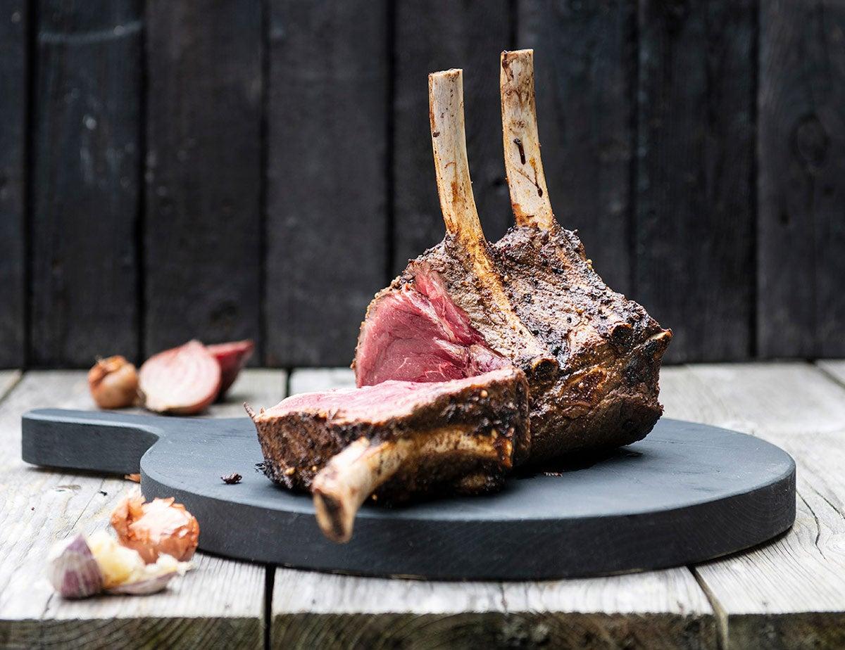 Vlees van de BBQ