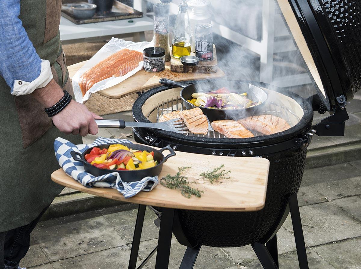 Zalm op de barbecue