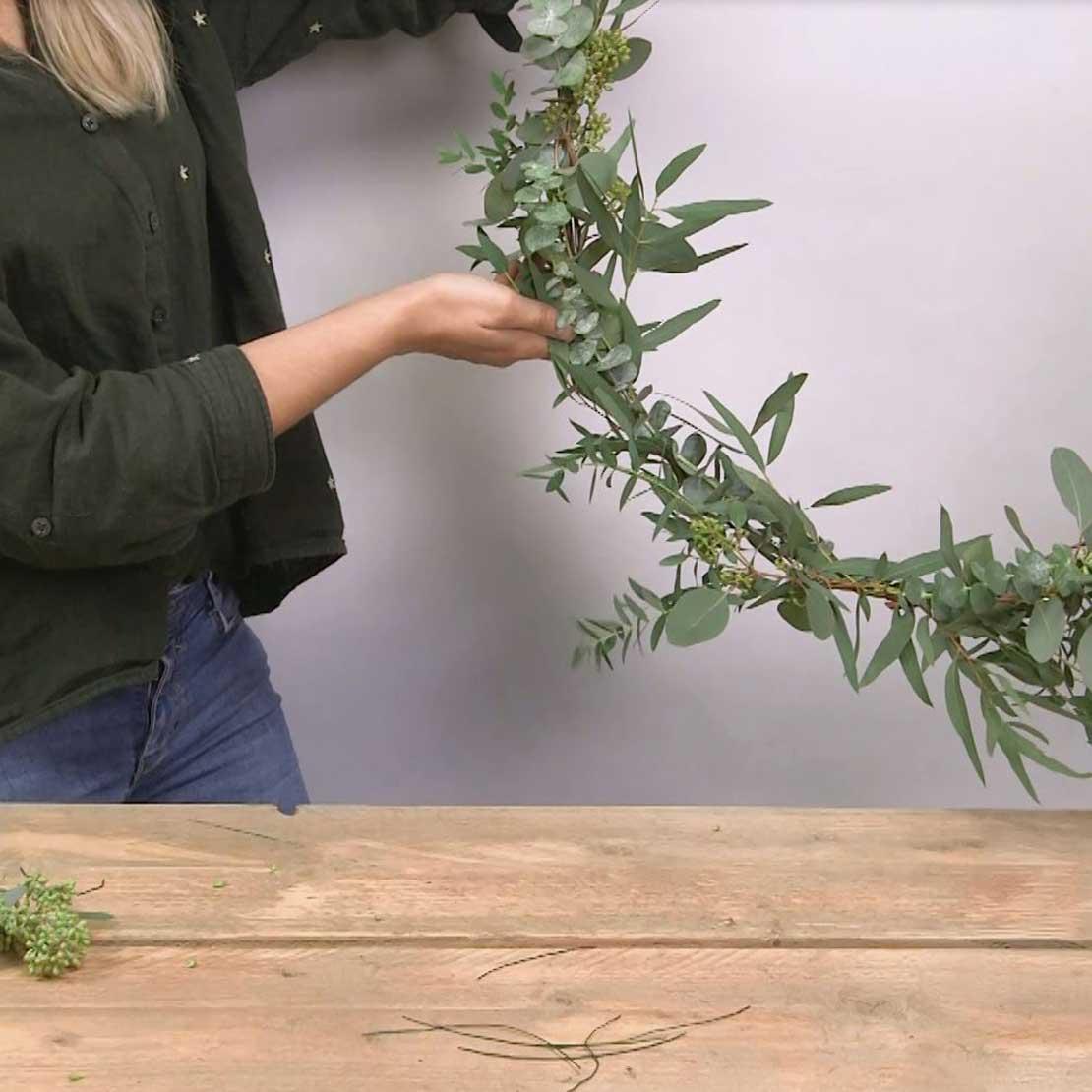 DIY Eucalyptus krans stap 7: Beoordelen