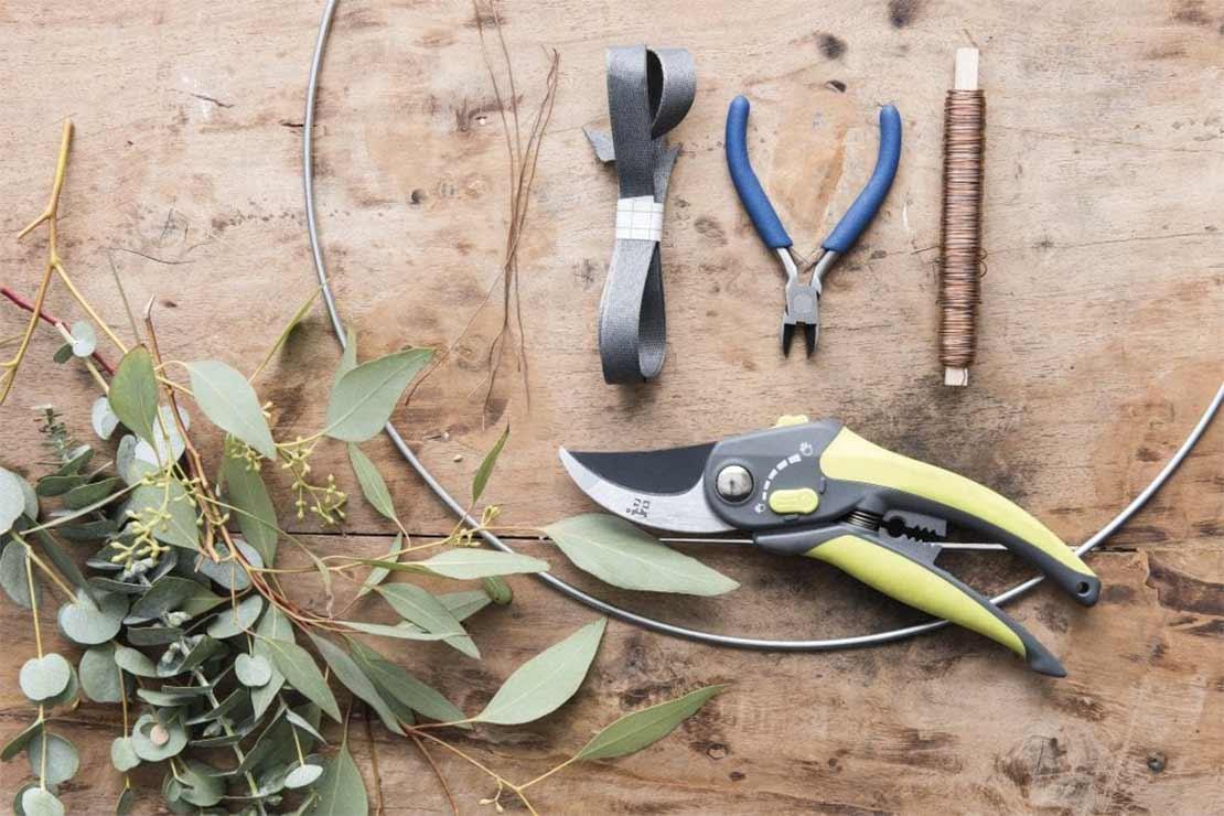 DIY Eucalyptus krans benodigdheden