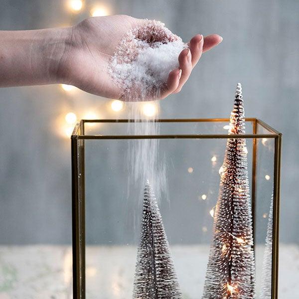 DIY Mini kerstdorp, stap 3: Sneeuw