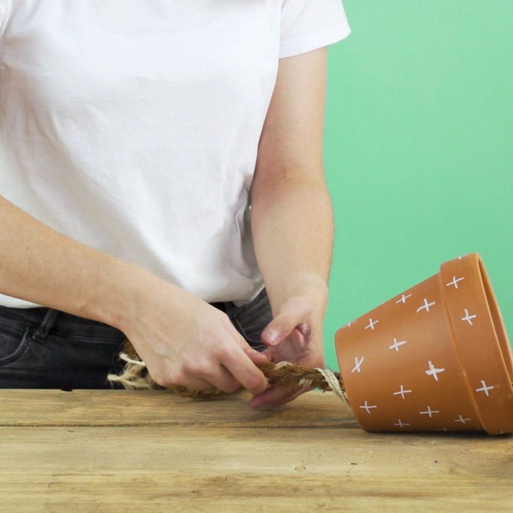 DIY kruidenhanger touw vlechten