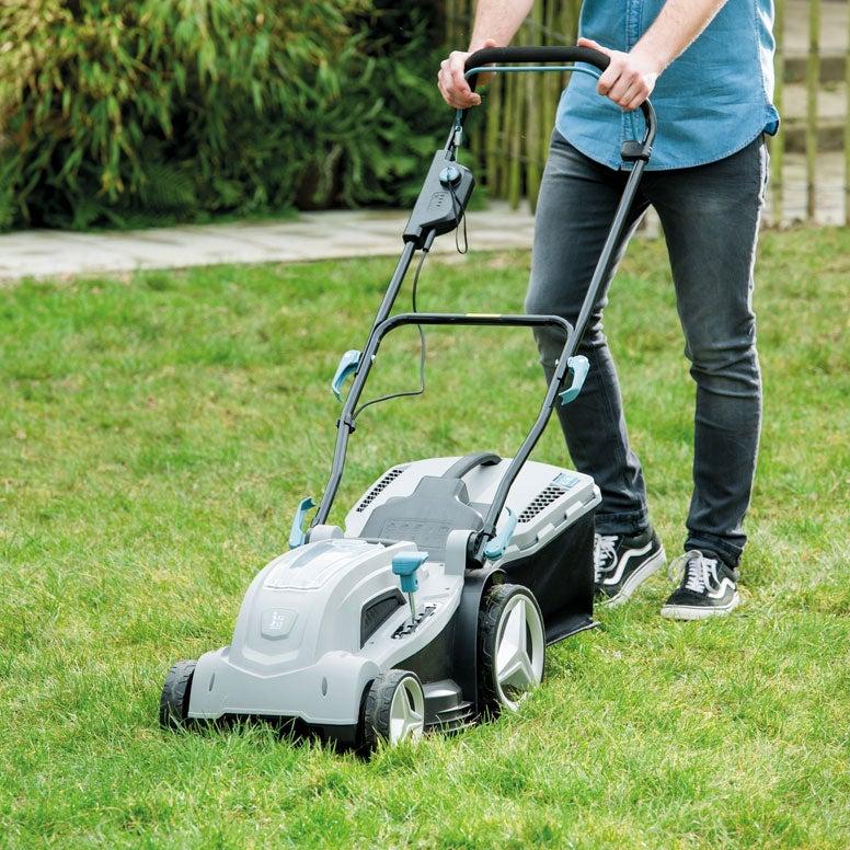 Elektrische grasmaaier met accu