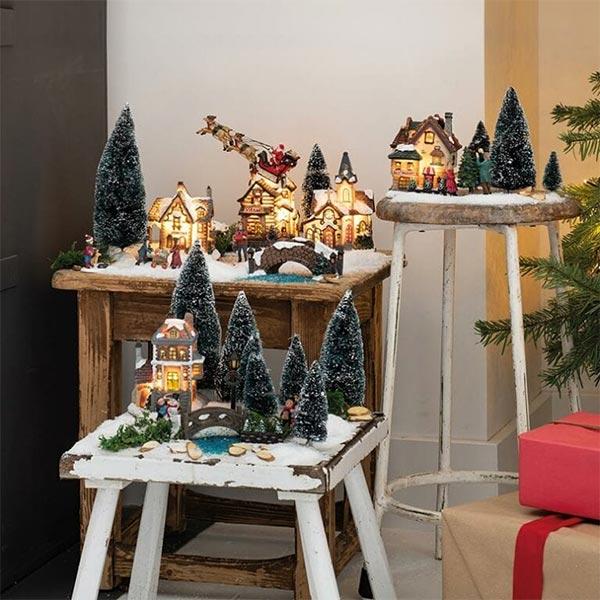 Kerstdorpen op verschillende plekken
