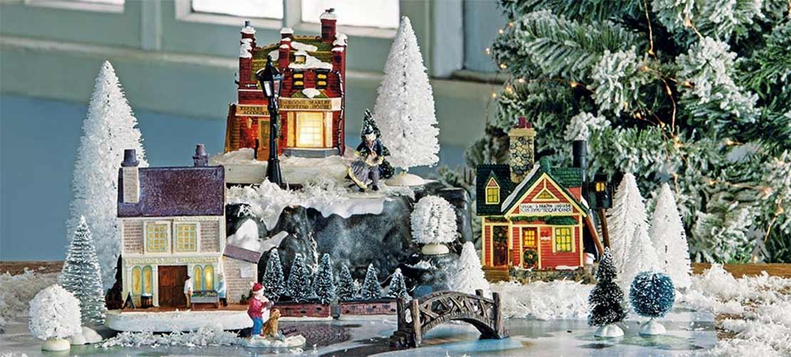Kerstdorp winterlandschap
