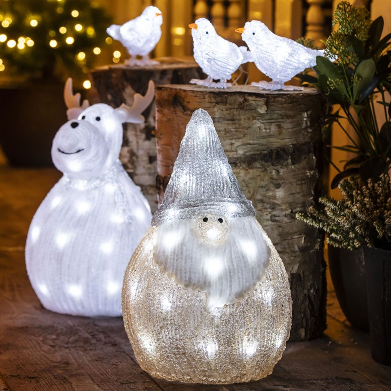 Verlichte kerstfiguren voor buiten