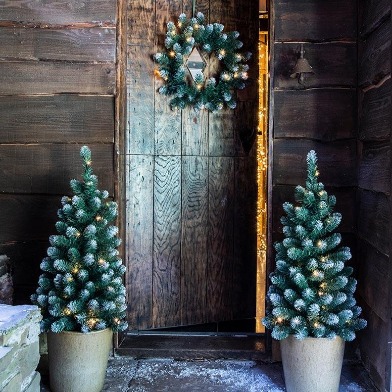 Kerstversiering voor buiten, kerst voordeurset
