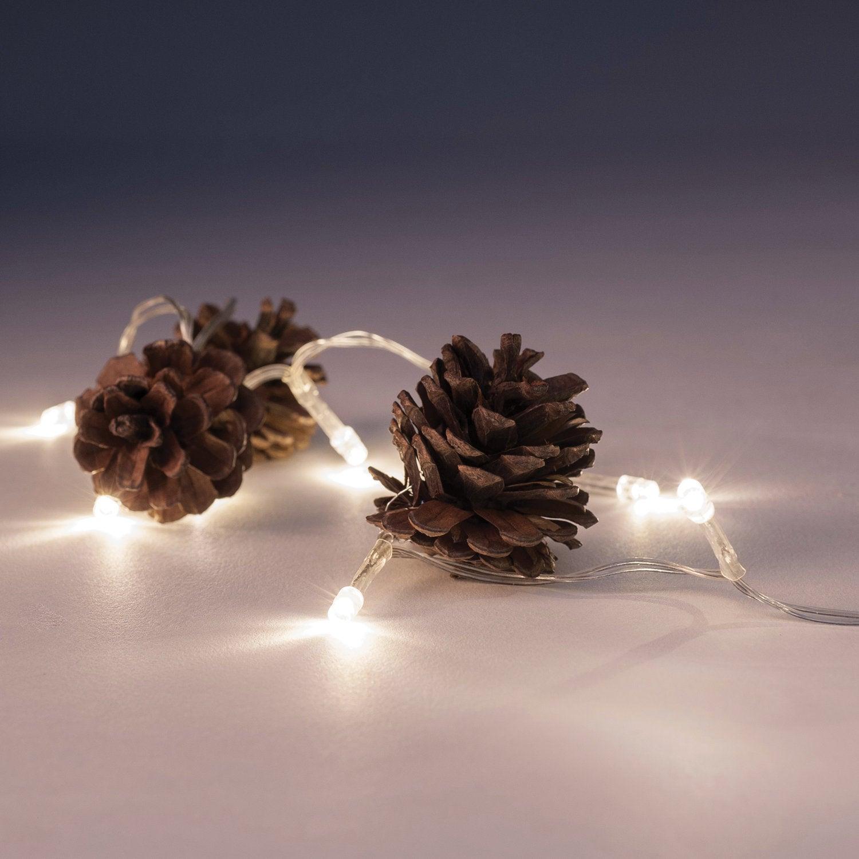 Verlichtingssnoer met dennenappels LED 1,5 m warm wit