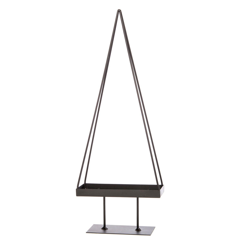 Piramide op voet metaal H 63 cm zwart