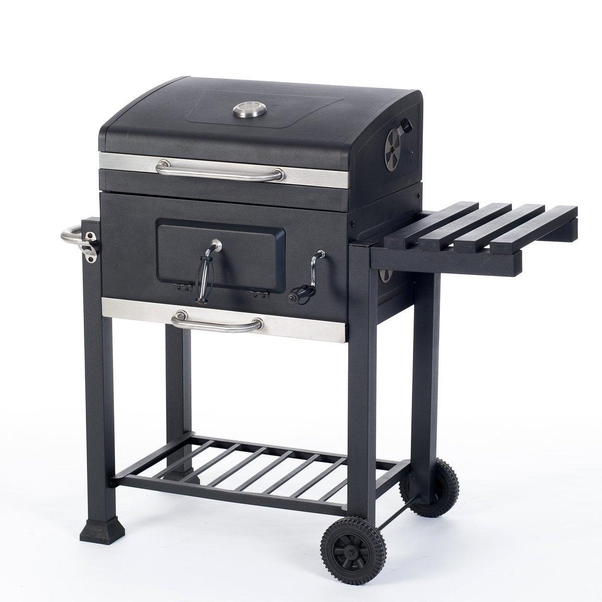 Intratuin houtskoolbarbecue Topgrill 115 x 54 x 106 cm grijs