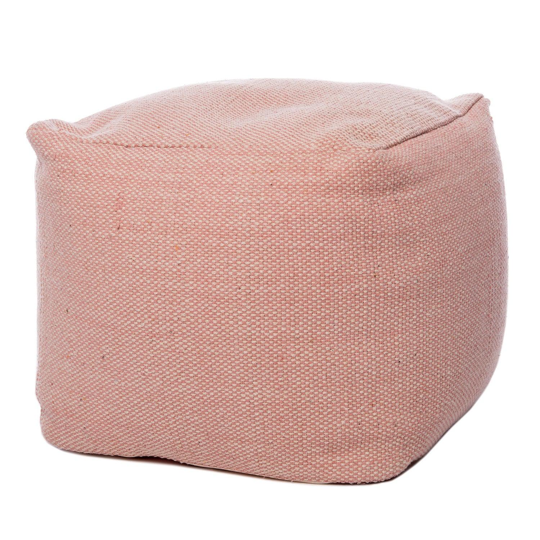 Intratuin poef 45 x 45 x 40 cm roze