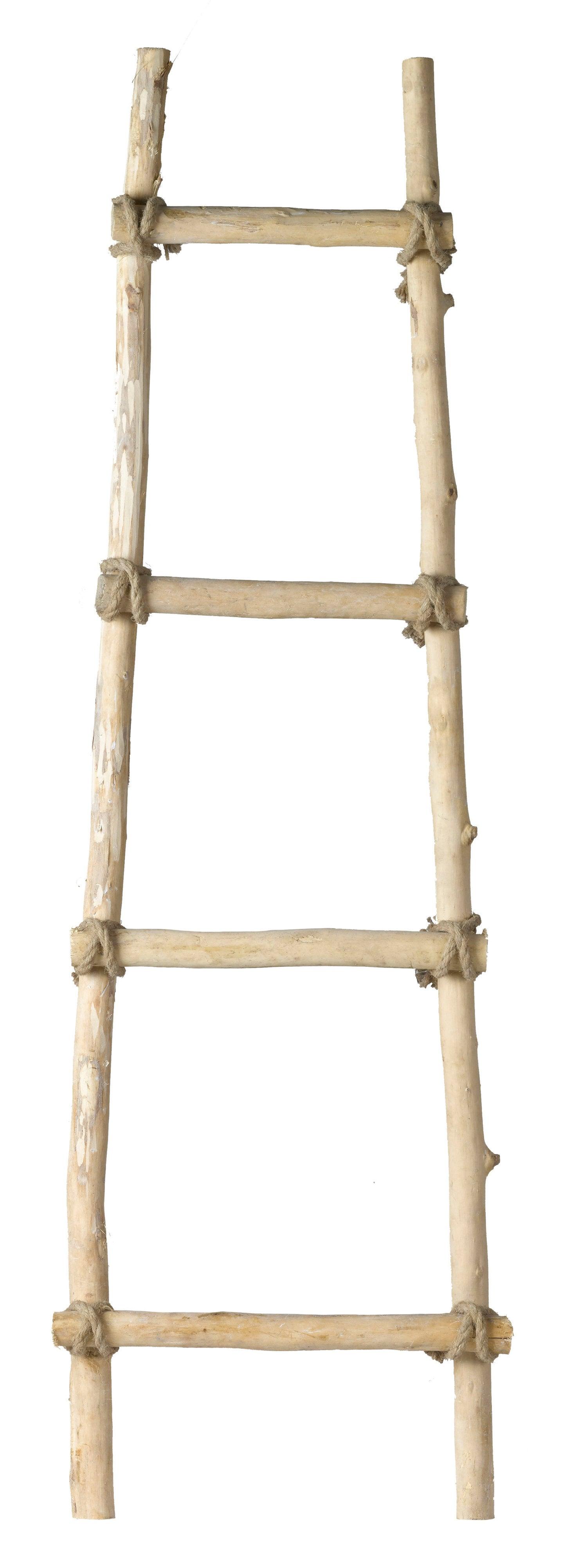 Intratuin ladder hout H 118 cm lichtbruin