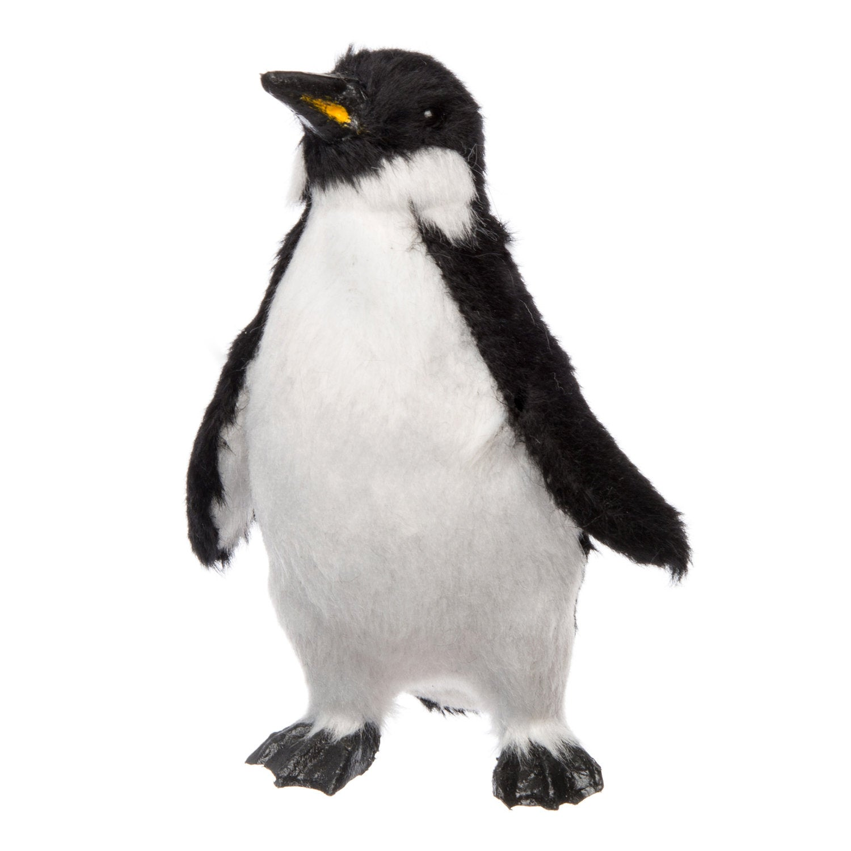 Intratuin pinguïn pluche 5,5 x 6,5 x 10 cm zwart / wit