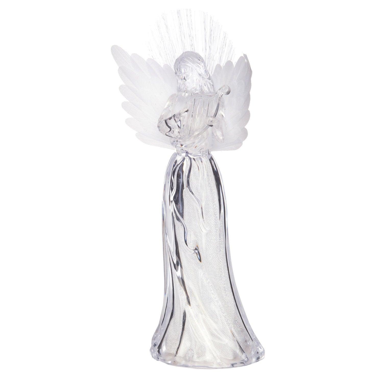 Intratuin lichtfiguur engel met harp 15 x 8,5 x 28 cm meerkleurig