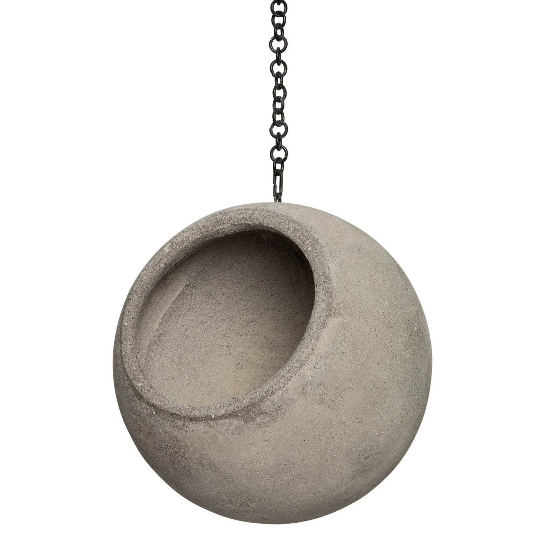 Intratuin hangpot bal grijs D 18,5 H 16,5 cm