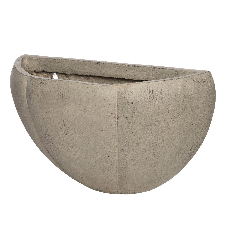 Intratuin hangpot Petal antraciet 38 x 15 x 22 cm