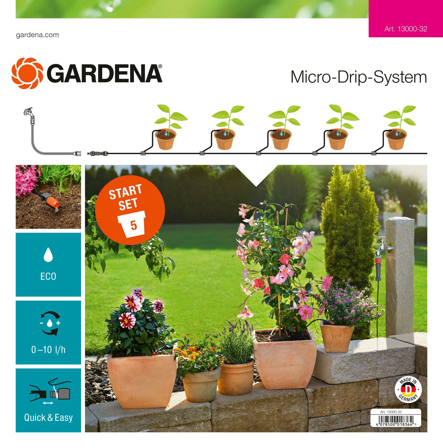 Gardena start set terras/balkon