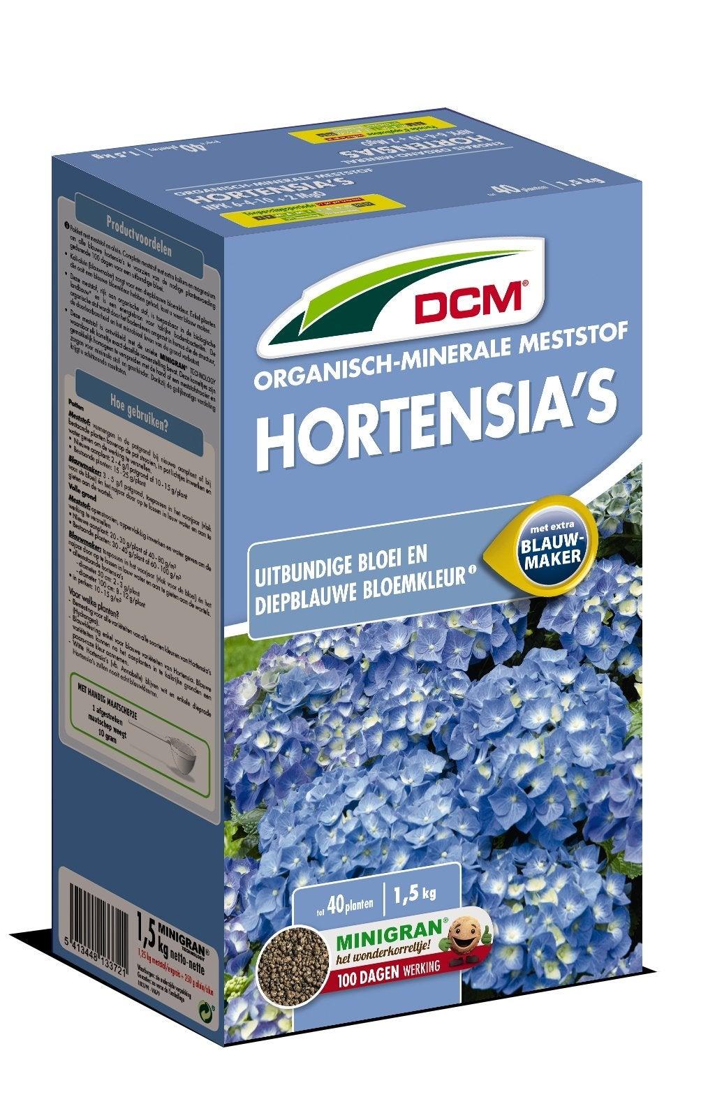 DCM Bio meststof hortensia met blauwmaker 1,5 kg