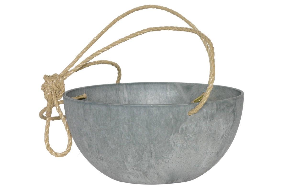 Artstone kunststof hanger Fiona D 25 H 12 cm grijs