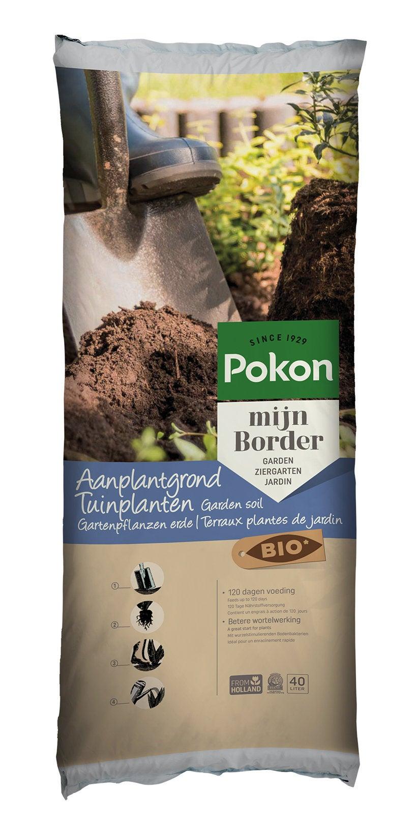 Pokon Bio aanplantgrond tuinplanten 40L