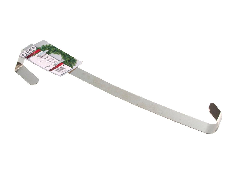 Kerstdeurhanger krans metaal 27 cm