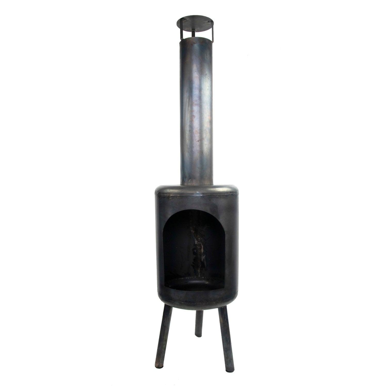 Tuinhaard zwart 36 x 36 x 140 cm