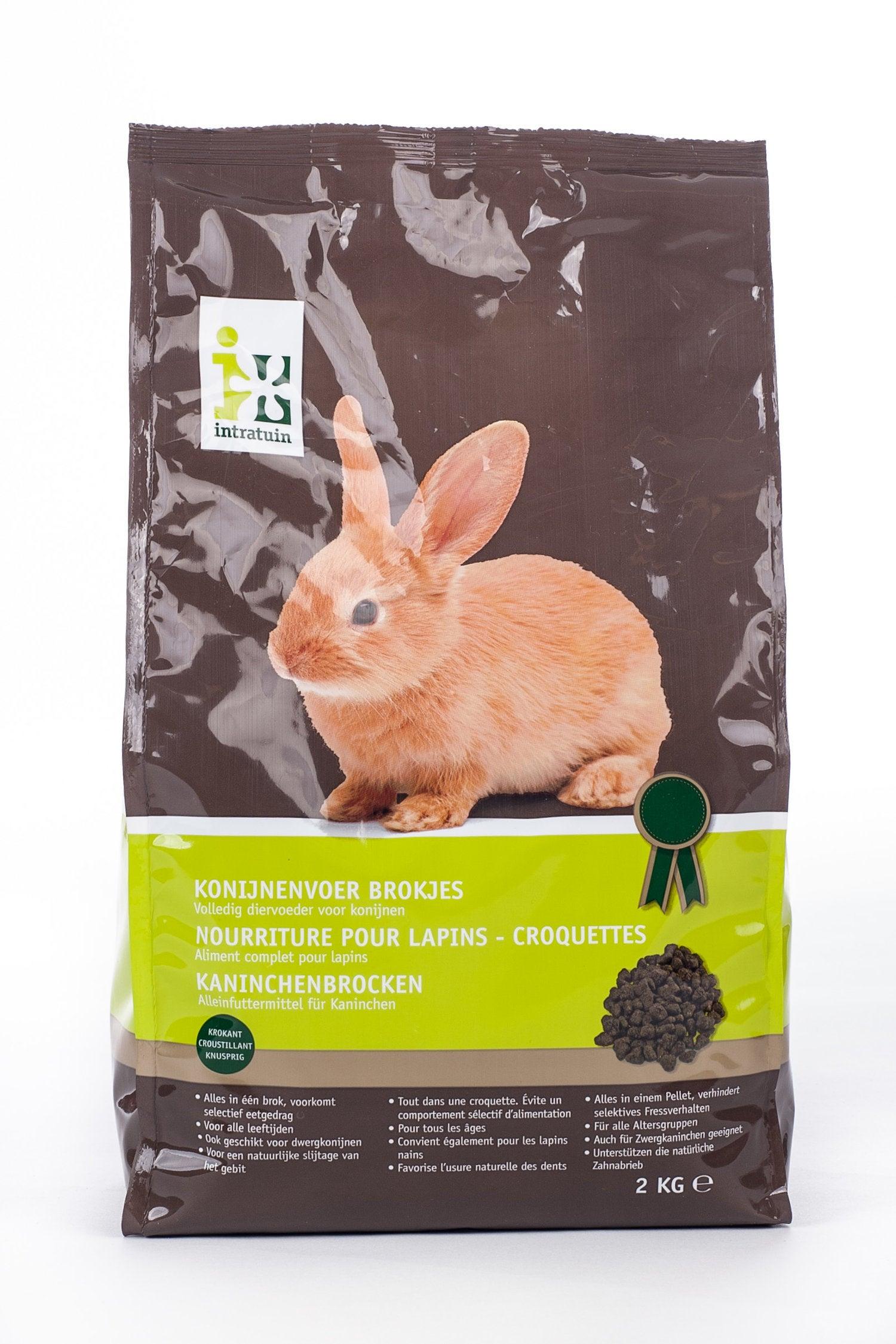 Intratuin konijnenvoer brokjes 2 kg