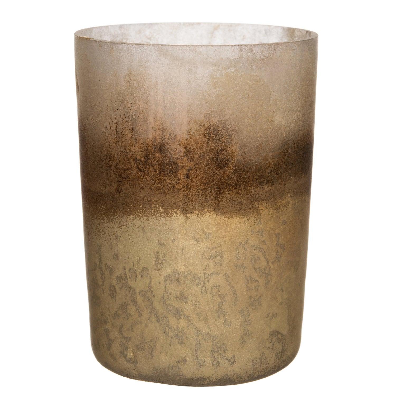 Intratuin theelichthouder goud / bruin D 6,5 h 8 cm