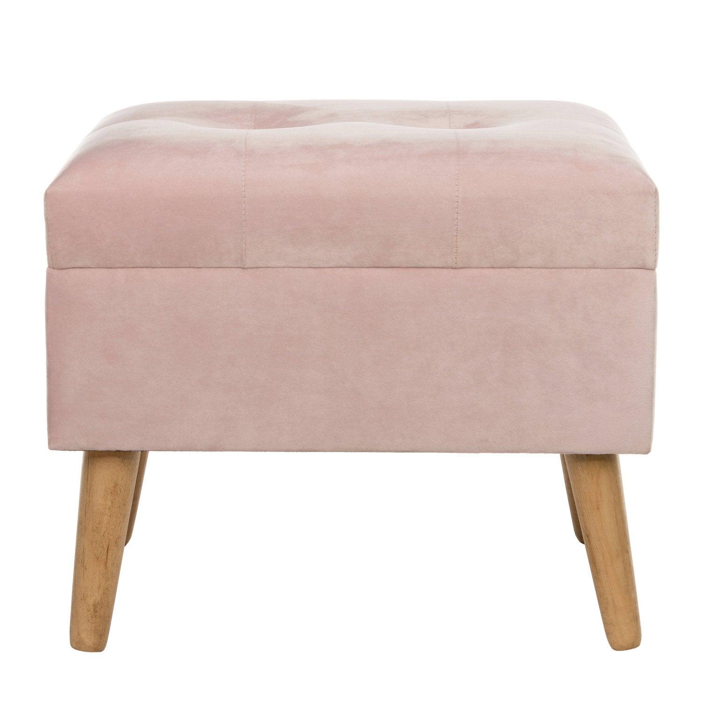 Intratuin kruk met opbergruimte roze 48 x 32 x 42 cm