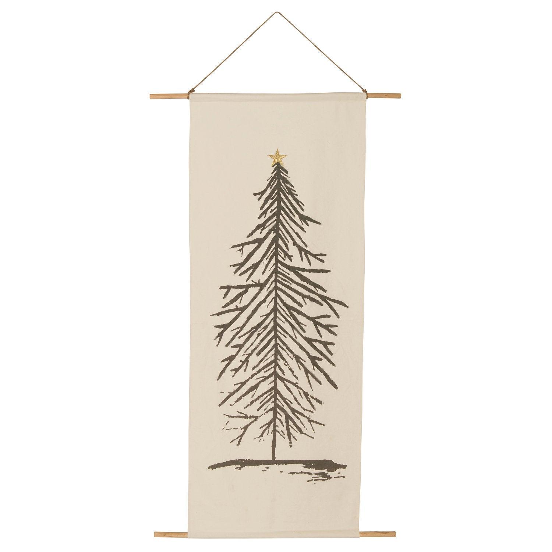 Intratuin wandhanger kerstboom crème 100 x 2 x 180 cm