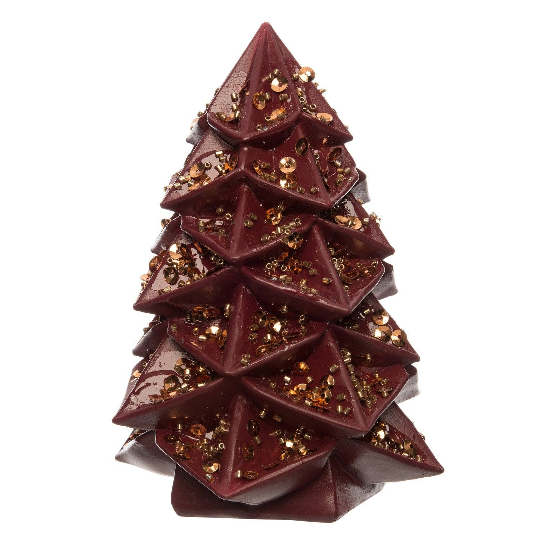 Intratuin decoratieboom bordeaux 9,3 x 9,3 x 12,5 cm
