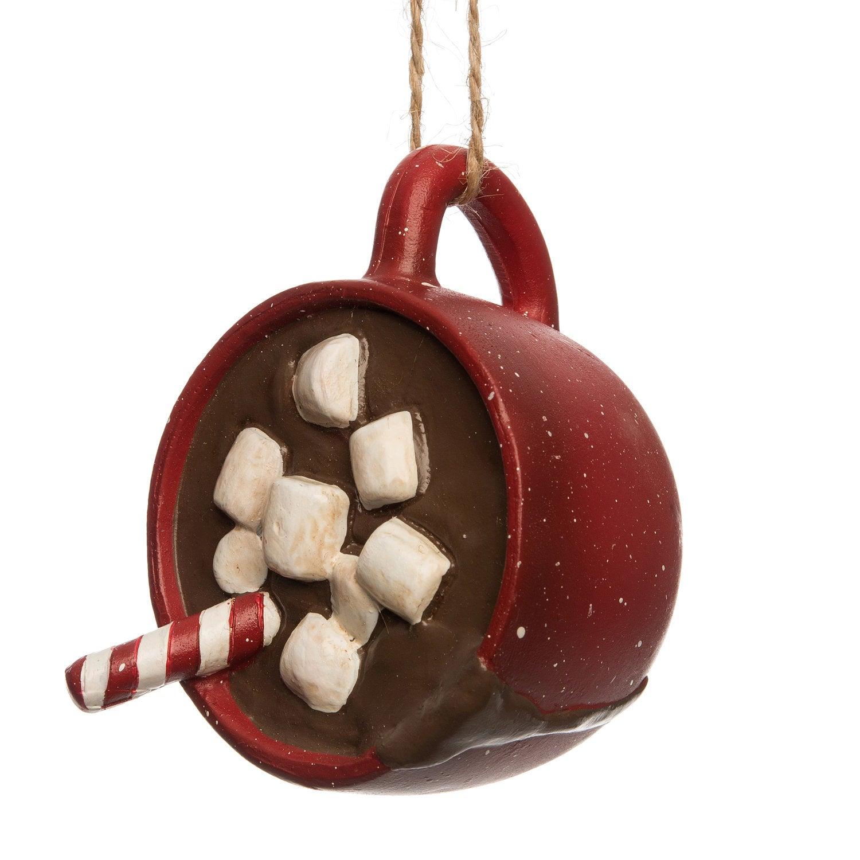 Intratuin kerstboomhanger chocolademelk rood 7,7 x 5,8 x 6,2 cm