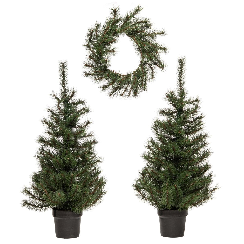 Intratuin voordeurset Ellmau 1 krans 2 bomen met LED verlichting