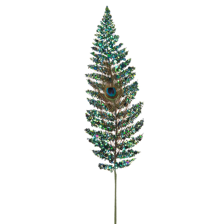 Intratuin kersttak varen met glitter multi 24 cm