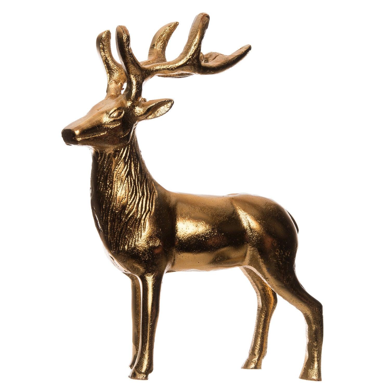 Intratuin kerstfiguur hert goud 23 x 5,5 x 26 cm