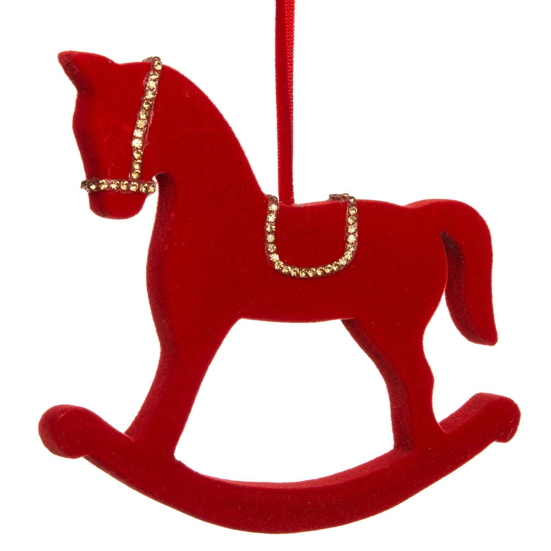 Intratuin kersthanger hobbelpaard rood 18 x 5 x 15 cm