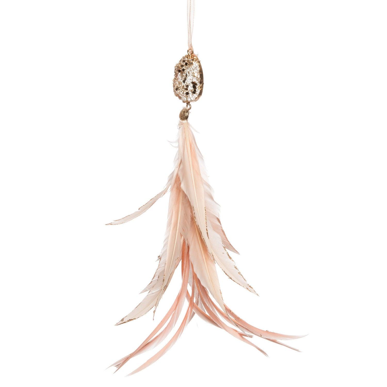 Intratuin kersthanger veer roze / goud 24 cm