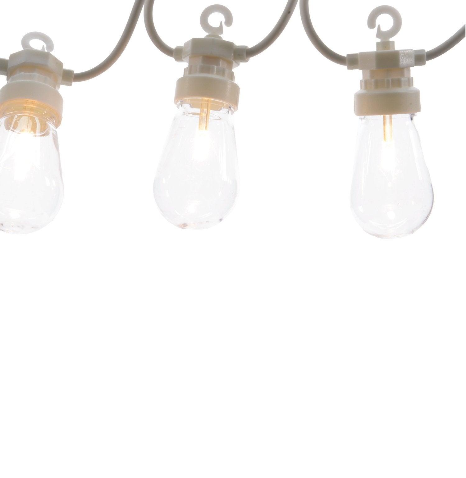 Verlichtingssnoer uitbreiding globes LED 10 m wit