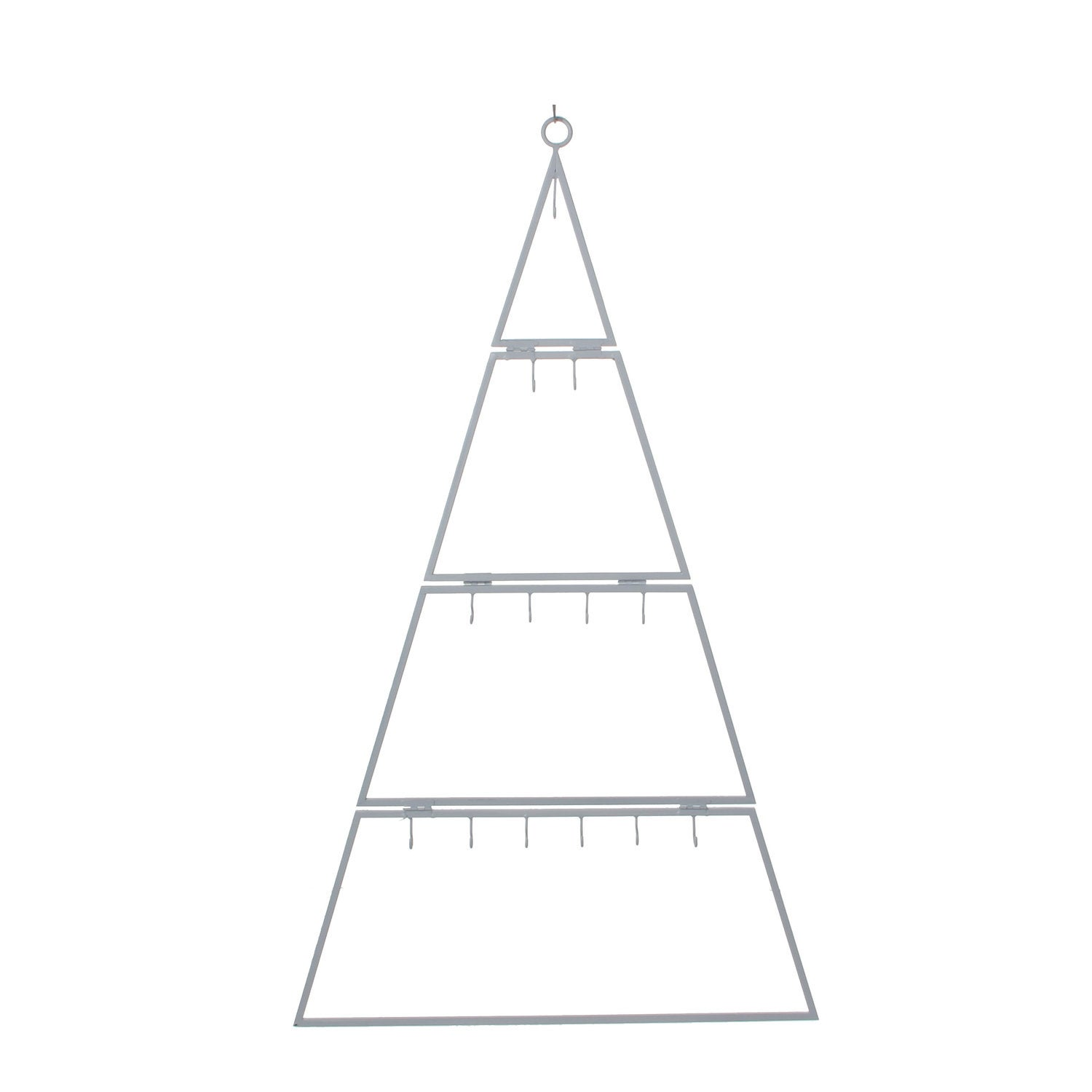 Christmas House hanger kerstboom B 48 x H 80 cm wit