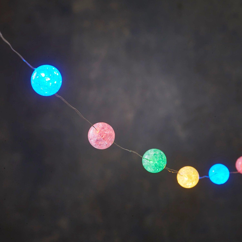 Luca Lighting lichtsnoer bal 3 m met 30 LED lampjes multi