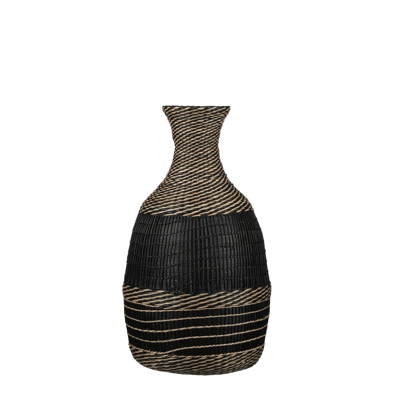 Mica Decorations fles Yasmin zwart D 27,5 H 48 cm