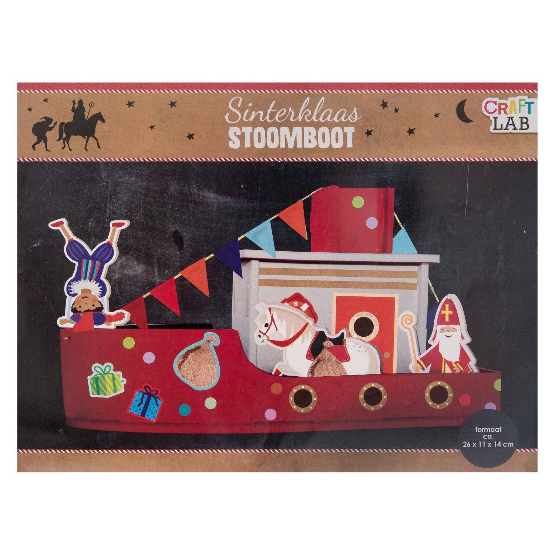 Stoomboot Sinterklaas 26 x 11 x 14 cm