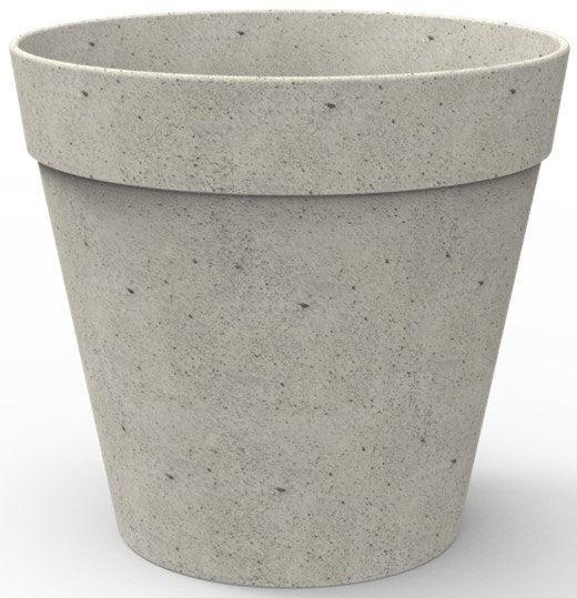 Fibrics bloempot Bamboo grijs D 35 H 31,7 cm