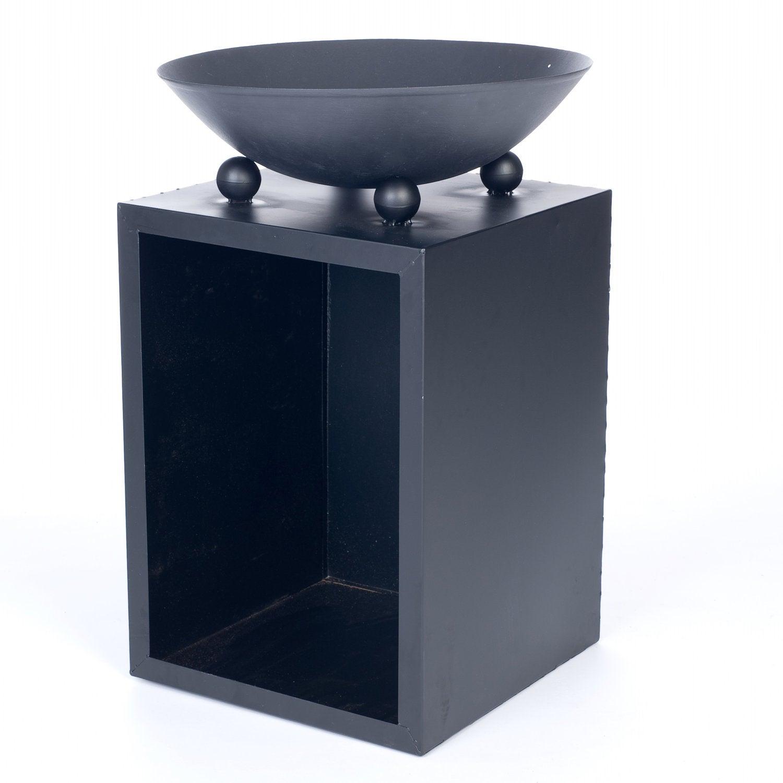 Vuurschaal op zuil 40 x 40 x 60 cm zwart  Intratuin # Wasbak Op Zuil_194839