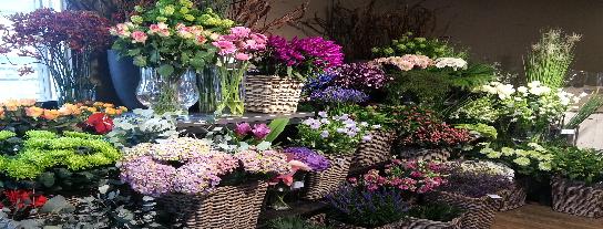 snijbloemen, bruidswerk en rouwwerk